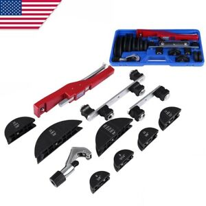 Pipe Bender Hvac Refrigeration Ratchet Tube Bending Heads Cutter Tool Kit Usa