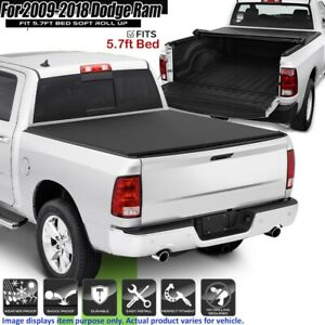 Roll Up Tonneau Cover For 2009 2018 Dodge Ram 1500 Crew Cab 5 7ft Short Bed Hot