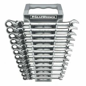 Gearwrench 85698 12pc Metric Xl Locking Flex Head Combination Ratchet Wrench Set
