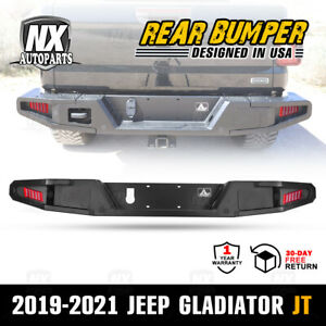 Wolfstorm Rear Bumper For 2019 2021 Jeep Gladiator Jt With Towing Hooks