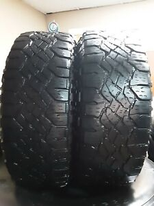 Set Of 2 265 70 16 112s Goodyear Wrangler Duratrac Very Good Used