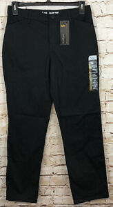 LEE All Day Pants womens 10 black straight leg relaxed fit effortless NEW L5 $22.19