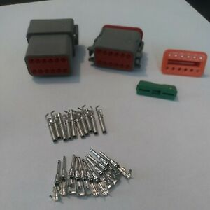 Deutsch Dt 12 Pin Gray Connector Kit W 14 18awg Size 16 Contacts Made In Usa
