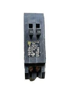 Square D Homeline 15 Amp Twin 1 Pole Tandem Circuit Breaker Hom1515 15 15 Amp
