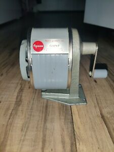 Vintage Apsco Giant Manual Hand Crank Pencil Sharpener Wall Desk Mount