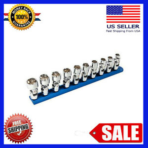 Gear wrench 10 pc 6 pt 3 8 Drive Metric Flex Socket Set