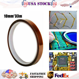 1x 10mm Polyimide Tape Adhesive High Temperature Heat Resistant Tape Universal
