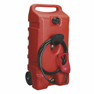 Scepter 6792 Portable Wheeled 14 Gallon Gas Container Red
