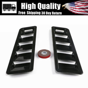 Universal Car Hood Vent Louver Scoop Cover Air Flow Intake For Ford Honda 2pcs