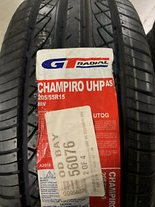 2 New 205 55 15 Gt Radial Champiro Uhp As Tires