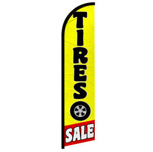 Tires Sale Windless Swooper Flag Advertising Feather Flag Mechanic Auto Service