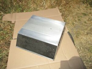Vintage B M Air Cleaner Low Profile Side Draft With Dual Filters Rare