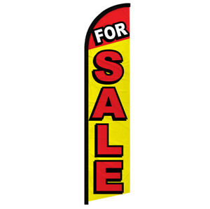 For Sale Windless Swooper Advertising Feather Flag Real Estate Flag