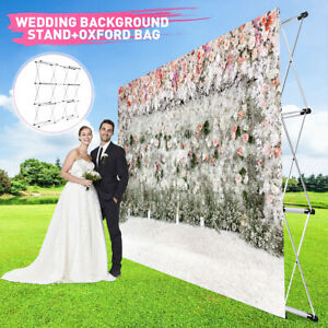 Banner Stand Sign Frame Folding Telescopic Trade Backdrop Flower Wall Party Show
