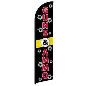 Guns Ammo Windless Swooper Advertising Feather Flag Guns Sold Here