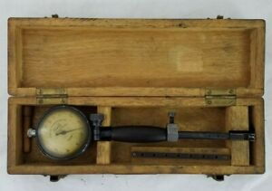 Tumico Tubular Micrometer Co 0001 Dial Bore In Wooden Case