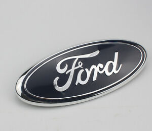 1pcs Blue Chrome 2005 2014 Ford F150 Front Grille Tailgate 9 Inch Oval Emblem