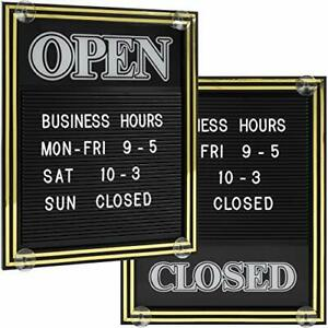 Open And Closed Sign With Letter Board For Customizable Message Or Store Busi