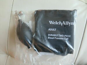 Welch Allyn Blood Pressure Cuff Adult Reusable two Piece 2 tubes 5082 22