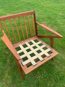 Poul Jensen Teak Z Chair Danish Mcm New Upholstery Nyc Area Delivery