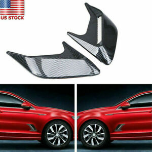 2x Universal Car Auto Truck Decorative Air Flow Intake Hood Scoop Bonnet Covers
