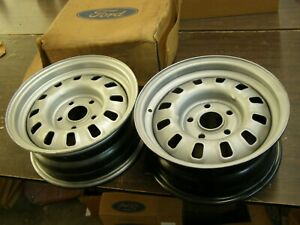 Nos Oem Ford 1968 1969 Mustang Torino Gt 14 Wheels Painted Slotted 2