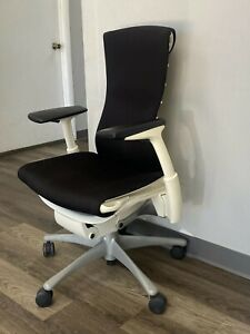 Herman Miller Embody Office Chair Black Fabric With White Frame