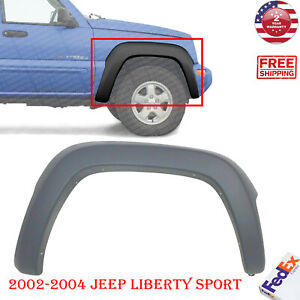 Front Fender Flare Textured Passenger Side For 2002 2004 Jeep Liberty Sport