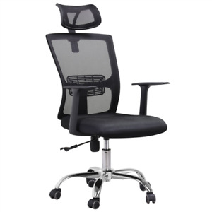 High Back Mesh Office Chair Ergonomic Adjustable Swivel Executive Home Desk Used