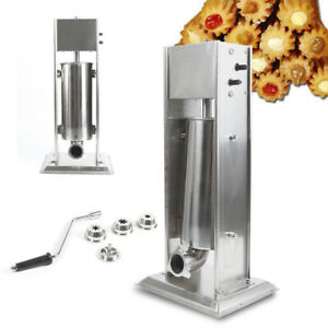 Stainless Steel Manual Commercial Home 1 Unit Churro Machine With 4pcs Nozzles