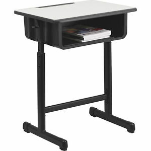 Flash Open Front Student Desk Gray W blk Frame