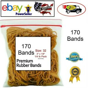 Rubber Bands Size 32 3 X 1 8 1 4 Pound Bag For School Home Or Office 170 Pcs