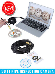 50ft Pipe Inspection Camera Endoscope Video Sewer Drain Cleaner Waterproof