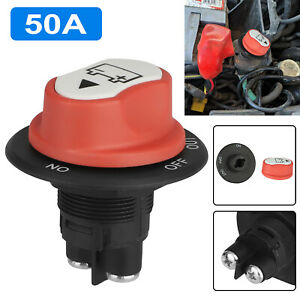 50a Battery Isolator Switch Disconnect Power Cut Off Kill For Car Boat Rv Truck