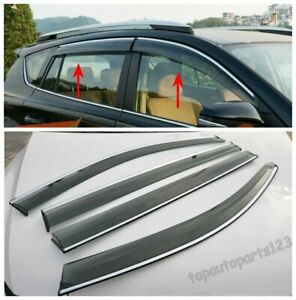 Fit Honda Crv Cr v 2012 2013 2014 Window Visor Vent Sun Rain Guard Shield New