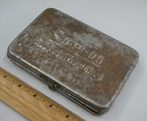 Vintage Snap on early Underline Logo Socket Wrenches Tool Box Only S 8000