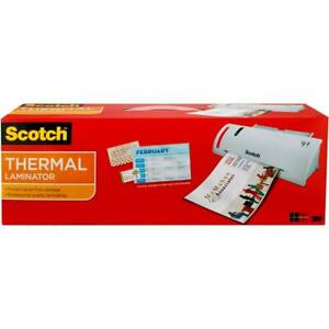 Scotch Tl902vp Thermal Laminator Roller System With 20 Laminating Pouches