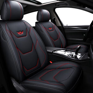 5 Seater Car Suv Pu Leather Seat Cover Set Cushion Kit Front Rear For Jeep