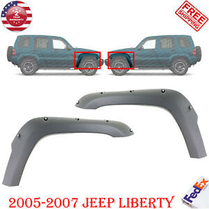 Front Fender Flare Right Left Side Primed For 2005 2007 Jeep Liberty