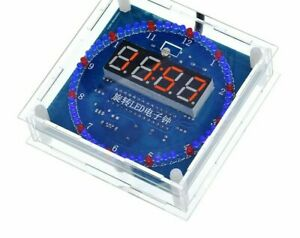 Display Alarm Electronic Clock Module And Rotating Led Temperatures For Arduinos