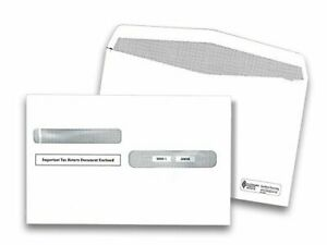 W 2 Double Window Security Envelopes Pack Of 100 Envelopes
