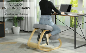 Kneeling Chair Ergonomic For Home Office Posture Corrective Angled Seat Rocking