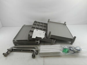 Rubbermaid Commercial Products Fg342488plat 3 shelf Rolling Utility Cart Gray