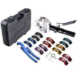 A c Hydraulic Beaded Hose Crimper Air Conditioning Crimping Tools Die Set