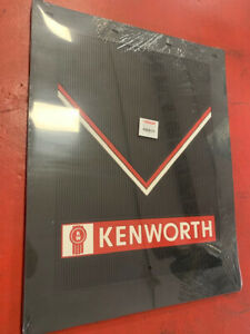 Kenworth Mud Flaps Black Red Logo 24 X 30 Pair Hd Rubber Limited Edition