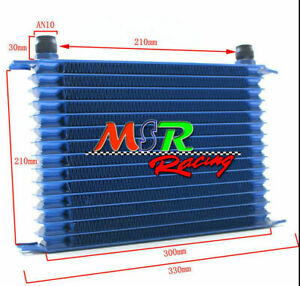 Universal 15 Row An 10an Universal Engine Transmission Oil Cooler Blue