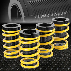 For 01 05 Honda Civic 1 3 Adjustable Coilover Suspension Lowering Spring Yellow