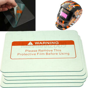 5 Pack 4 5 x 3 5 Welding Helmet Clear Lens Cover Replacement Protective Plate