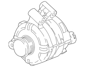 Genuine Gm Alternator 13534116