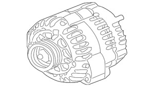 Genuine Gm Alternator 20881337